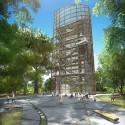 Primer Lugar Concurso Parque de Ciudad-Neiva / Colombia Torre Mirador. Image Cortesía de Obraestudio + Riqueza