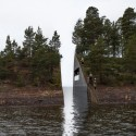 """Memory Wound"" Fractures Landscape, Commemorates Victims of Norway's Massacre © Jonas Dahlberg"