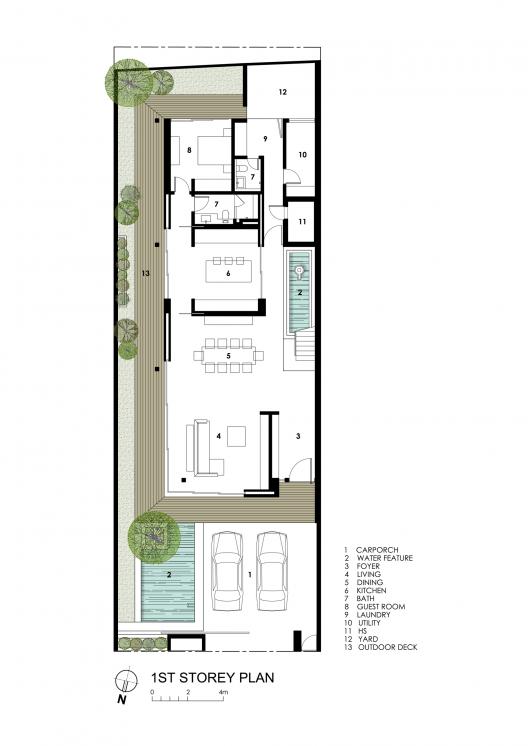 Semi detached house layout