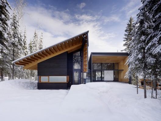 Residencia en Kicking Horse  / Bohlin Cywinski Jackson  + Association with Bohlin Grauman Miller Architects