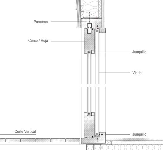 Materiales ventanas componentes y detalles planos de - Detalle carpinteria aluminio ...