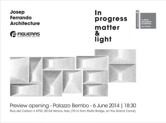Bienal de Venecia: Josep Ferrando y Figueras International Seating presentan 'In Progress Matter & Light'