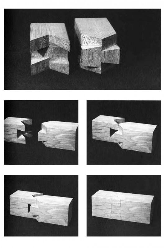 En detalle especial los ensambles de madera en la for Arquitectura japonesa tradicional