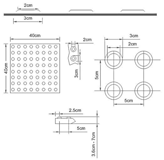 En detalle dise o universal en espacios p blicos for Medidas de baldosas