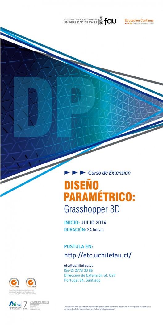 Curso de extensión en 'diseño paramétrico: Grasshopper 3D' / ¡Sorteamos dos medias becas!