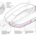 En Detalle: Estructuras a gran escala / Estadios Arena Tele2 / White arkitekter. Axonométrica + Detalle