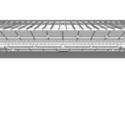 En Detalle: Estructuras a gran escala / Estadios Complejo Deportivo Mineirão / BCMF Arquitetos. Corte Longitudinal